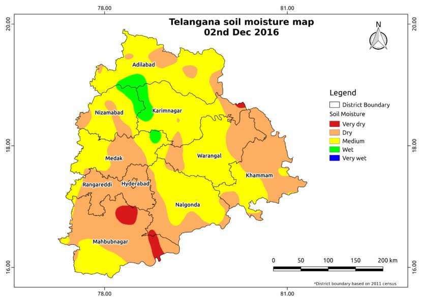 Soil Moisture Map Telangana Aapah Innovations Pvt Ltd