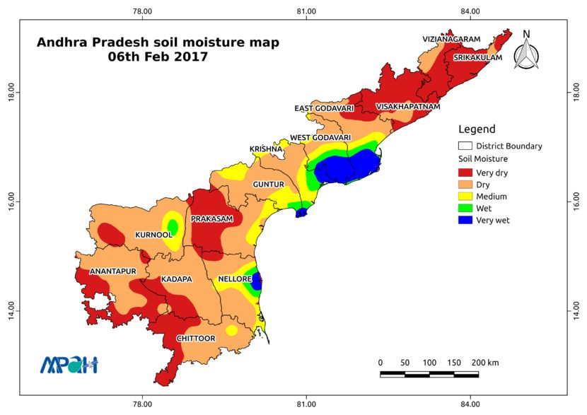 Soil Moisture Map for the state of Andhra Pradesh - Aapah ...