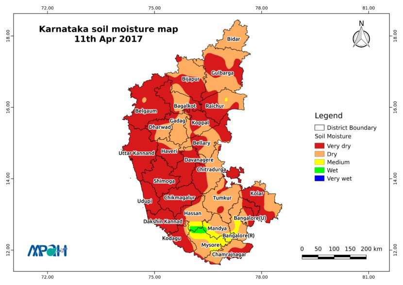 Soil Moisture Map for the state of Karnataka - Aapah ... on map of delhi, map of rajasthan, map of haryana, map of bangalore, map of kashmir, map of mysore, map of yunnan province, map of hubei province, map of gujarat, map of andhra pradesh, map of orissa, map of nunatsiavut, map of mumbai, map of uttar pradesh, map of maharashtra, map of arunachal pradesh, map of india, map of west bengal, map of kerala, map of madhya pradesh,
