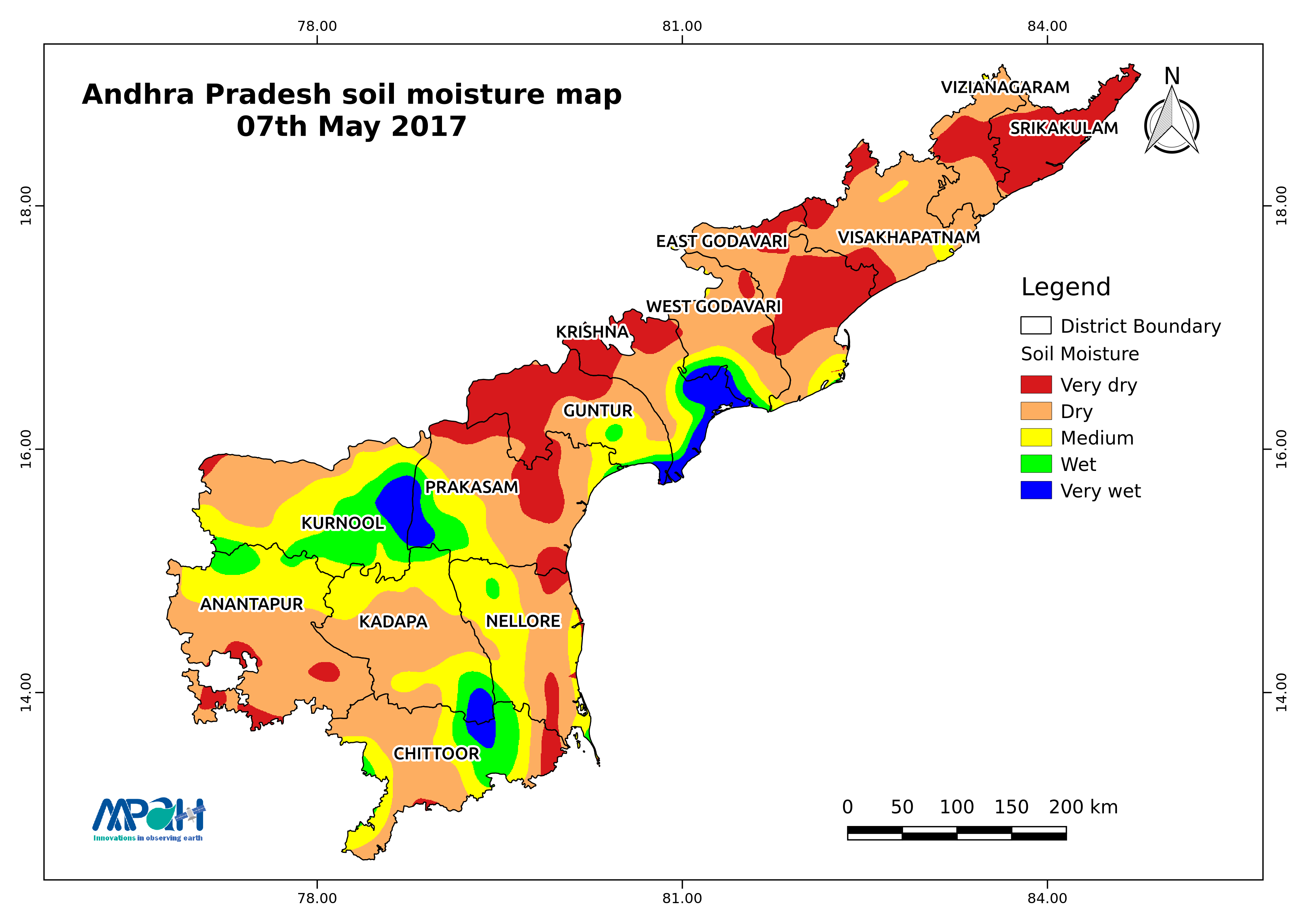 Soil Moisture Map For The State Of Andhra Pradesh Aapah - Us soil moisture map