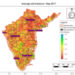 Average soil moisture for the month of May in South India